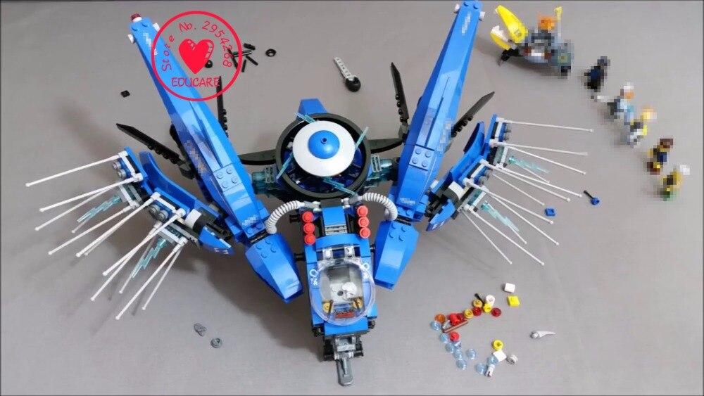 New 937pcs Lightning Jet model Building Blocks Bricks brinquedos Toys children 70614 compatible legoes gift kid set ninja boy<br>