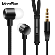 MoreBlue E6 Sport Running Headphones Shoelace Metal Earphones Stereo Super Bass Headset Earbuds Handsfree With Mic