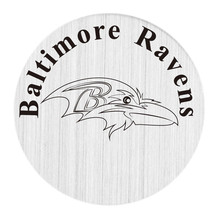 22mm stainless steel american football floating locket charm plate baltimore ravens backplate