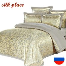 SILK PLACE Comfortable Bedding Sets 4-7Pcs Ship From Moskow Pillowcase Satin Quality Jacquard Cotton Queen/King/Twin/Full Size