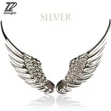 ZD 2pcs/set Car Styling Angel Wing 3D Metal Stickers Mercedes W203 W211 W204 W210 Benz BMW F10 E34 E30 F20 X5 E70 Accessorie