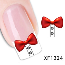 2017 Sale Top Fashion Manicure Nails 1pcs Watermark Nail Stickers Flowers Row Of Pens Manufacturers Xf1324(China)
