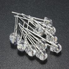Best Price 10pcs 5mm Water Clear Straw Hat LED Emitting Diodes Lights Assortment Lamp DIY 5 Color White Yellow Red Blue Green