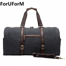 Men's Travel Bag Large Capacity Handbag Luggage Travel Duffle Bags High Quality Canvas Weekend Bags Multifunctional Travel Tote(China)