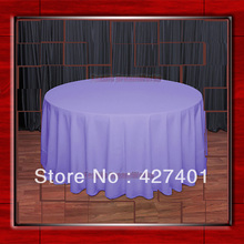 "Hot Sale  132"" R Lavender  Round Table Cloth Polyester Plain Table Cover for Wedding Events &Party Decoration(Supplier)"