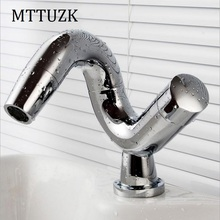 MTTUZK Free shipping modern creative washbasin design bathroom faucet hot& cold mixer water taps for basin faucet of bathroom(China)