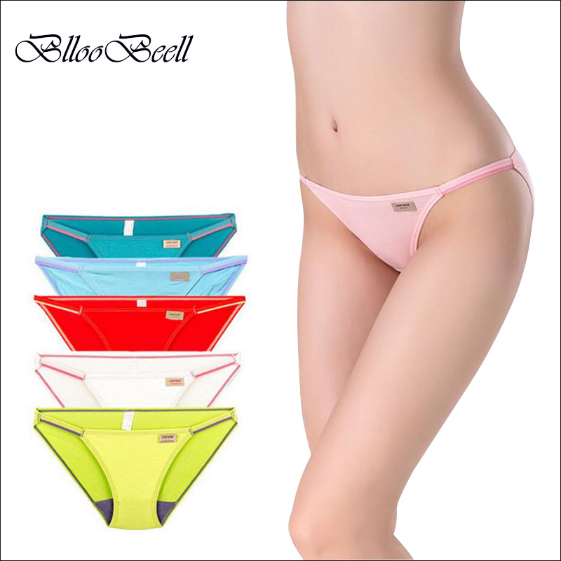 BllooBeell Sexy Women's Underwear Panties Seamless Modal Tanga Super Low Rise Thong Lingerie Lady Women's Briefs Girl Thong(China)