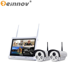 EINNOV 1pcs/2pcs 4CH CCTV System Wireless 1080P NVR 2.0MP IR Outdoor P2P Wifi IP CCTV Security Camera System Surveillance Kit