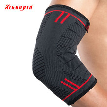 Kuangmi 1 Piece Elbow Pads Compression Sleeve Women and Men Keep warm Sport Support Relieve Pain Protector Thanksgiving gift(China)