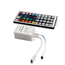 1pcs 12V 44 Keys IR Remote Controller for RGB LED Strip 2835 3528 5050 LED Strip Lights Mini 44Key IR Cnontroller not battery(China)