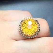ZT Classic Women 925 Sterling Silver Rings Two White Or Rose Color Rings Citrine Jewelry Female Rings For Women Engagement Ring