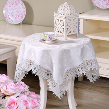 European Embroidery Table Cloth Lace Polyester Tablecloths Rectangle/Square Table Dinner Runner Garden Home Decor Textiles
