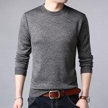 1a0025ff5 2019 nueva marca de moda suéteres hombre jerseys de Color sólido Slim  sudaderas cálido otoño estilo coreano Casual para Hombre R..
