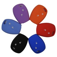 Silicone Car Key Case For Renault 2 Button Clio Scenic Megane Duster Sandero Captur Twingo Modus Remote Control Cover