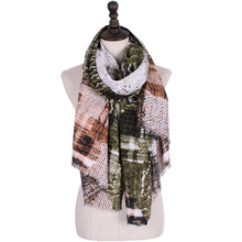 Cotton Scarf Women Retro Style Printed Woman Long Scarf High Quality Women Fashion 2018 V9069(China)