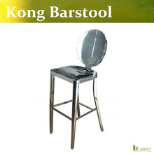 Free shipping U-BEST designer Philippe Starck Kong Barstool with no arms made in 100% stainless steel,Emeco Kong High Chair(China)