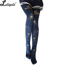 Buy Moon Beauty ~ Patterned Mori Girl Tights Sweet Lolita Pantyhose 120D Velvet Tights