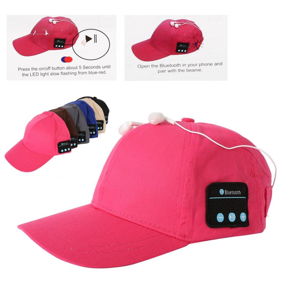 Baseball cap hat Wireless Bluetooth Smart Cap Headset Headphone Speaker Mic Cap<br><br>Aliexpress