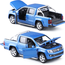 CaiPo 1:30 VW AMAROK Pickup Toy Vehicles Model Alloy Pull Back Children Toys Genuine License Collection Gift Acousto-Optic Mini