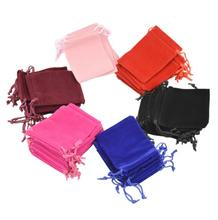 New 10*12cm 7-colors Velvet Bags Pouches Jewelry Candy Pocket Bags gift Valentines Gifts Bags