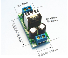 5PCS/LOT Step-down power supply module L7805 voltage regulator filter rectifier module AC output 5V DC 1.5A(China)