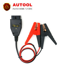 AUTOOL BT-30 Car Alligator Clips Battery Clamps Maintaining Auto Car Computer ECU MEMORY Saver Battery Tool OBD2 SAFE Replace