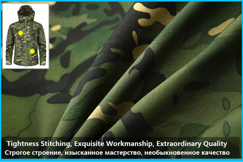 Mege Shark Skin Soft Shell Military Tactical Jacket Men Waterproof Army Fleece Clothing Multicam Camouflage Windbreakers 4XL 15