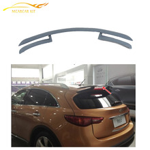 Rear Roof Window Lip Spoiler Wing Fit For Infiniti FX35 FX50 2009-2012 FRP UNpainted Gray Primer Car Styling