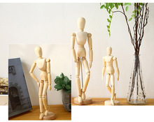 Free Shipping Wooden Mannequin Manequin Dummy Hot Sale Pretty Abstract Wood Mannequin man 3 size 15 21 33cm