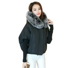 2017 Hot Sale New Fashion Women's Winter Coat Jacket Sleeve Wool Knit Splicing Bat Sleeve Cape Short Female Jacket