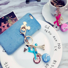 Buy DESSAUGE Fashion Resin Macaron Explosion Key Chain Charm Rhinestones Car Pendants Paris Eiffel Tower Metal Model Key Chain for $2.67 in AliExpress store