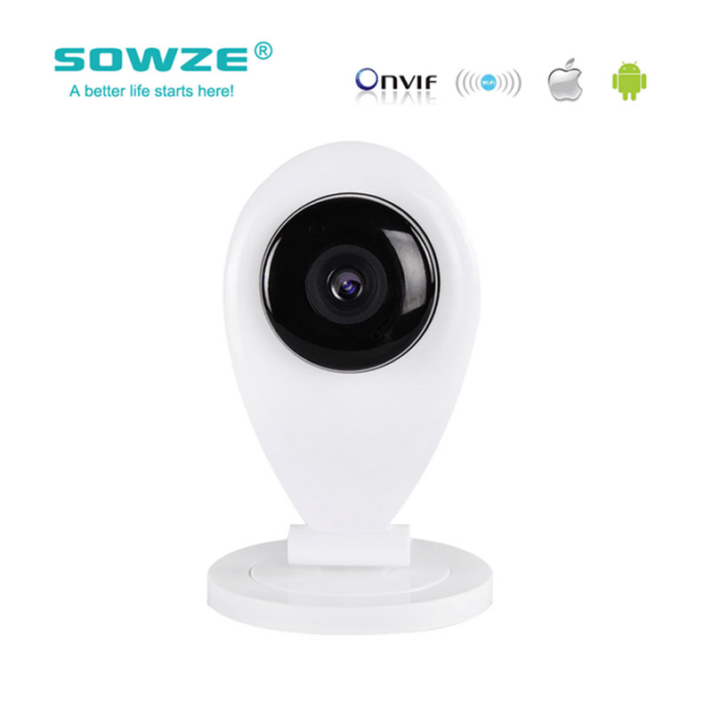 SOWZE 720P HD Security IP Camera Wifi Camera H.264 ONVIF P2P Surveillance Camera Baby monitor night vision Network <br>
