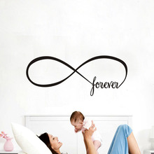 Forever Infinite Symbol Infinity Shape Endless Wall Sticker Home Decor Living Room Bedroom Decor Wall Art Decals Home Decoration