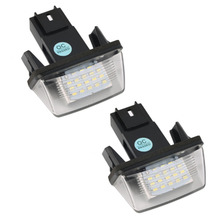 Super Bright 2PCS 12V 18 Led Licence Number Plate Light Bulbs 18 Led License Light For PEUGEOT 206 207 306 CITROEN C3 C4 5 XSARA(China)
