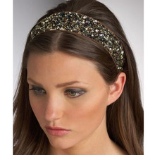 Hair Accesorries Headbands for Women Handmade Head band Girl Hairbands Sequin fabric Hair Band Elastic Fashion 2017 New