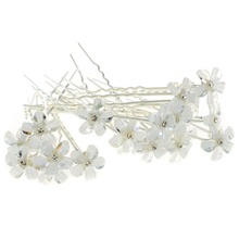 20Pcs/set Wedding Bridal Bridesmaid Crystal Flower Rhinestone Hair Pins Clips Wholesale Hair Accessories Fashion Jewelry