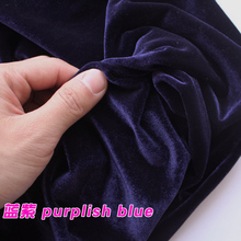 Purplish Blue Silk Velvet Fabric  Velour Fabric  Pleuche Fabric  Clothing Fabric  Evening Wear  Sports wear  Sold By The Yard