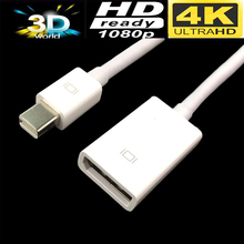 Mini DP 1,2 кабель 4 К Mini displayport-Displayport 1,2 Женский Кабель-адаптер для Apple Mac Dell HD lenovo(China)