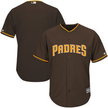 MLB Youth San Diego Padres Baseball Brown Alternate Offical Cool Base Jersey(China)