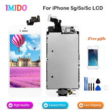 Full Set LCD For iPhone 5 5C 5S LCD Display Touch Screen Digitizer Replacement AAA quality+Home Button+Front Camera Free gifts