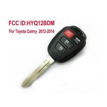 Keyless Entry Remote Key Remote Control Car key 3+1 Buttons With G Chip for Toyota Camry 2012 2013 2014 FCC ID:HYQ12BDM