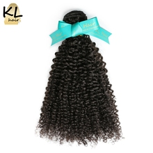 "KL Hair Brazilian Afro Kinky Curly Virgin Hair Bundles 100 Human Hair Weaving Natural Color 8""~28"" Hair Extensions Free Shipping"