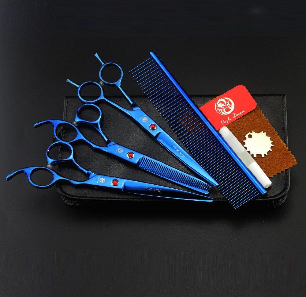 Purple Dragon 7.0 inch Hair Scissors Set Suit Professional Hairdressing Scissors<br>