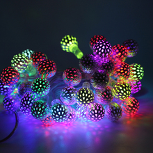 5M RGB 40 Ball USB LED String Light Christmas Lights Indoor Outdoor Xmas Tree Decoration Waterproof Holiday Garland Fairy Lights(China)