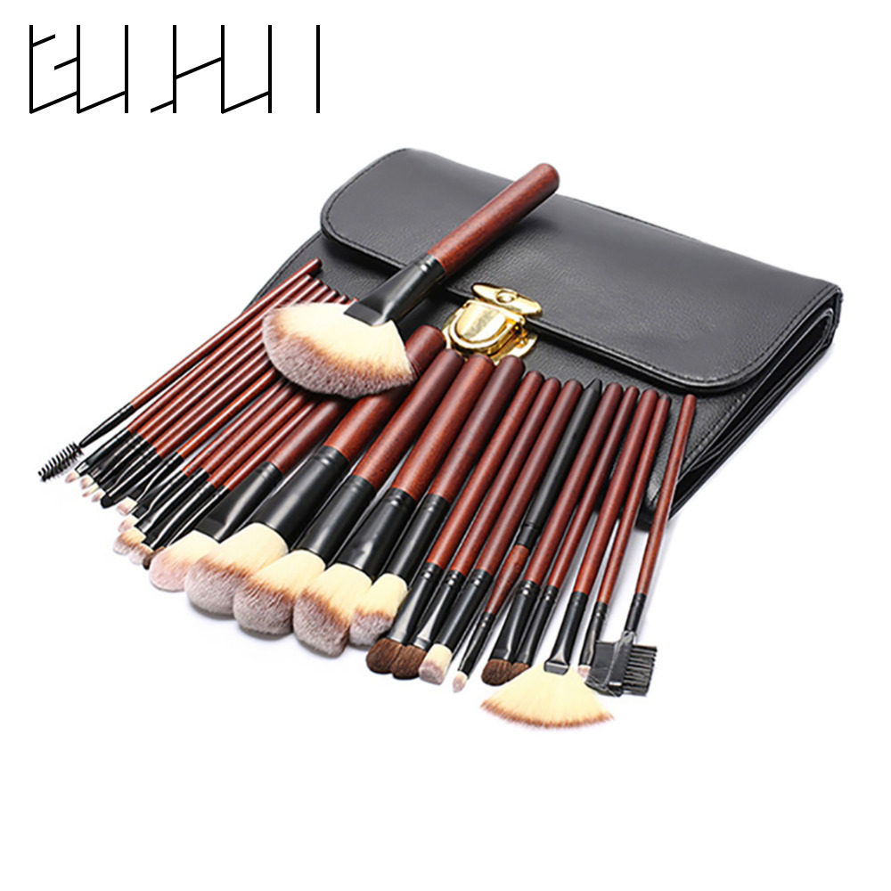26pcs Makeup Brushes Kit Pro Face Beauty Foundation Make Up Contour Concealer Eyeshadow Lip Blending Brushes With Cosmetic Bag<br>
