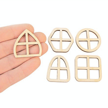 10pcs Wooden Fairy Windows Craft Embellishments Fairy Door Decoration Ornaments