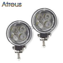 2pcs 3 Inch 12W 4D LED Work Light 12V Spot for Indicators Motorcycle Offroad Boat Tractor Truck 4x4 SUV ATV Car Driving Fog Lamp(China)