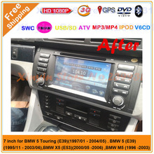 2 din Car DVD player for BMW E39 X5 E53 built in GPS Bluetooth Radio ATV USB SD IPOD RDS Canbus Free shipping Free map(China)