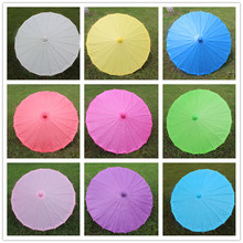 (1 piece/lot) New 9 colors available Diameter 23.6 inches blank paper parasol Fancy out-door wedding parasols