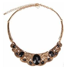 European and American Retro wild crystal necklace false accessories